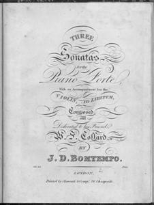 Three Sonatas for Piano, Op.18: Three Sonatas for Piano by João Domingos Bomtempo