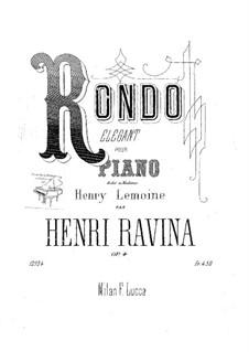 Rondo Elegant, Op.4: Rondo Elegant by Jean-Henri Ravina