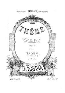 Variations on an Original Theme, Op.23: variações em temas originais by Jean-Henri Ravina