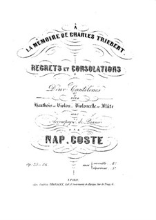 Consolation for Oboe and Piano, Op.25: Consolation for Oboe and Piano by Napoléon Coste