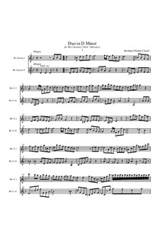 Duo for Two Clarinets: partitura by Bernhard Henrik Crusell