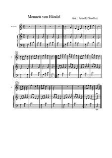 Minuet in C Major: minueto em C maior by Georg Friedrich Händel