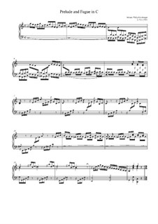 Prelude and Fugue in C Major: Prelude and Fugue in C Major by Johann Kirnberger