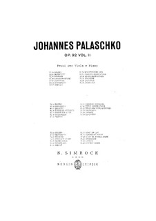 Pieces for Viola and Piano, Op.92: Volume II by Johannes Palaschko