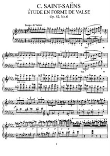 Six Etudes, Op.52: = by Camille Saint-Saëns