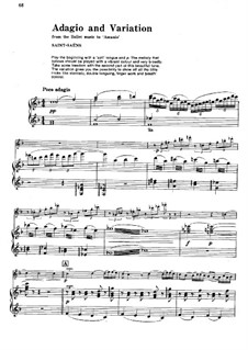 Ascanio: Adagio and Variation, for Flute and Piano by Camille Saint-Saëns