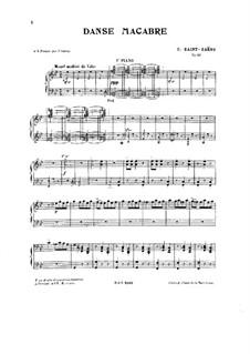 Danse macabre (The Dance of Death), Op.40: dois pianos de quatro mãos by Camille Saint-Saëns