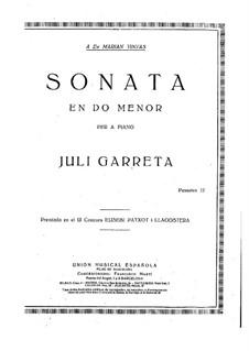Sonata in C Minor: Sonata in C Minor by Juli Garreta