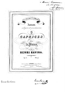 Three Caprices, Op.6: Three Caprices by Jean-Henri Ravina