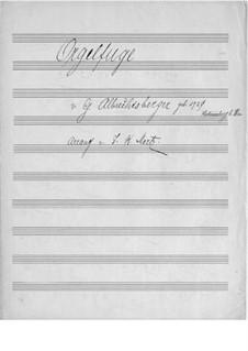 Fugue in A Minor: versão para guitarra by Johann Georg Albrechtsberger