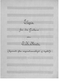 Elegy: Para Guitarra by Johann Kaspar Mertz