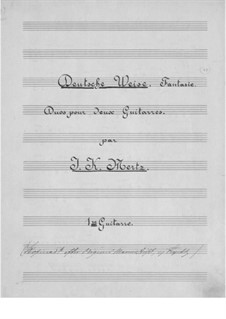 Deutsche Weise, Op.38: partes by Johann Kaspar Mertz