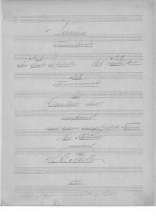 Three Pieces for Two Guitars: partes by Johann Kaspar Mertz