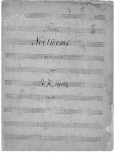 Three Nocturnes, Op.4: set completo by Johann Kaspar Mertz