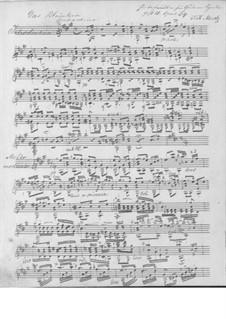 Das Blümlein, Op.34: Für Gitarre (Manuscript) by Johann Kaspar Mertz