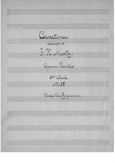 Cavatina on Theme from 'The Bohemian Girl' by Balfe: Para Guitarra by Johann Kaspar Mertz
