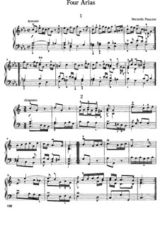 Four Arias for Organ: Four Arias for Organ by Ercole Pasquini