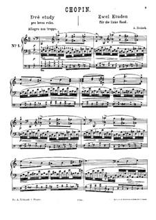 Dvě etudy pro levou ruku (after Chopin): Dvě etudy pro levou ruku (after Chopin) by Antonín Jiránek