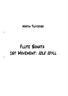 Sonata for Flute and Piano: Sonata for Flute and Piano by Martin Twycross