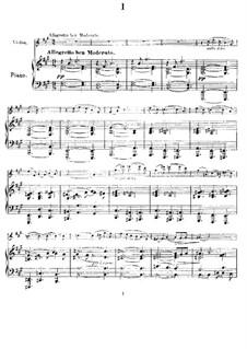 Sonata for Violin and Piano in A Major, M.8 FWV 8: movimento I by César Franck