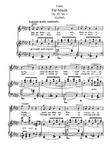 Six Songs, Op.10: seis musicas by Robert Franz