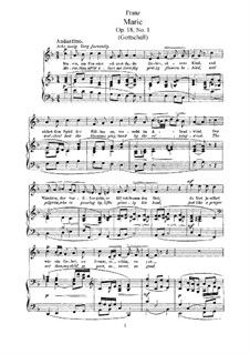 Six Songs, Op.18: set completo by Robert Franz
