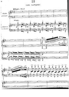 Piano Concerto in E Flat Major: Movimento III. Versão para dos pianos de quatro maõs by Jules Massenet