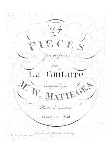 Twenty-Four Progressive Pieces: Book III No.13-17 by Wenzel Thomas Matiegka