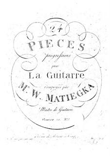 Twenty-Four Progressive Pieces: Book I No.1-6 by Wenzel Thomas Matiegka