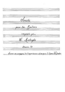 Sonata in B Minor, Op.23: Para Guitarra by Wenzel Thomas Matiegka