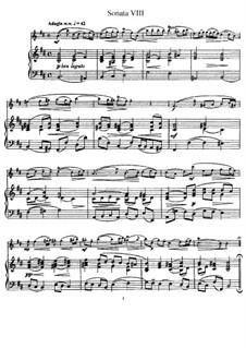 Sonata No.8 : Versão para flauta e piano, parte solo by Johann Mattheson