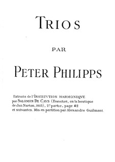 Trio de la premiere mode: Trio de la premiere mode by Peter Philips