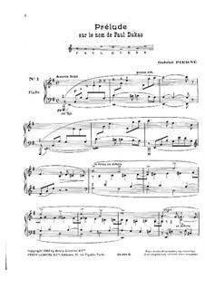Six Pieces for Piano: Pieces No.1-4 by Gabriel Pierné