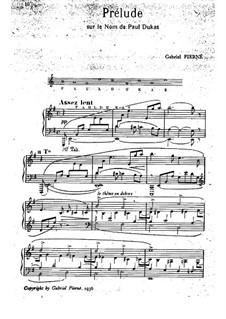 Six Pieces for Piano: Piece No.1 Prelude by Gabriel Pierné