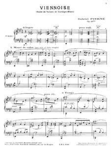 Viennoise. Suite de valses et Cortège-Blues, for Piano, Op.49 bis: Viennoise. Suite de valses et Cortège-Blues, for Piano by Gabriel Pierné