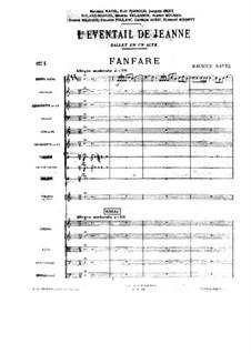 L'éventail de Jeanne (Jean's Fan). Fanfare, M.80: L'éventail de Jeanne (Jean's Fan). Fanfare by Maurice Ravel