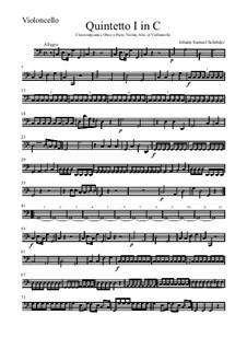 Quintet for Oboe (or Flute), Violin, Viola, Cello and Harpsichord (or Piano): Quintet for Oboe (or Flute), Violin, Viola, Cello and Harpsichord (or Piano) by Johann Samuel Schröter
