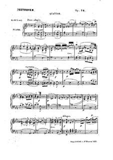 String Quartet No.10 in E Flat Major 'Harp', Op.74: versão para piano by Ludwig van Beethoven