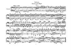 Sonata for Piano Four Hands in D Major, Op.6: partitura by Ludwig van Beethoven