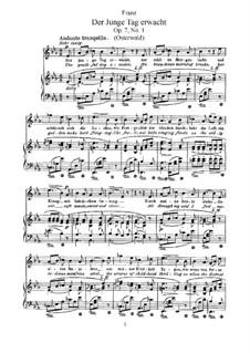 Six Songs, Op.7: seis musicas by Robert Franz