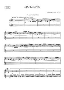 Bolero, M.81: parte flauta by Maurice Ravel