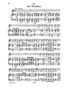 No.21 Das Wirtshaus (The Inn): Partitura piano-vocal by Franz Schubert