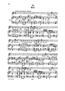 No.22 Mut (Courage): Partitura piano-vocal by Franz Schubert