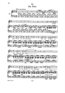 No.13 Die Post (The Post): Partitura piano-vocal by Franz Schubert