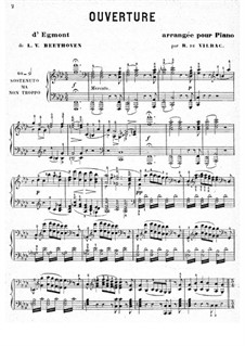 Egmont, Op.84: Overture, para piano by Ludwig van Beethoven