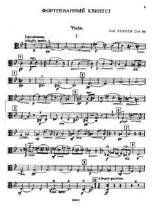 Piano Quintet in G Minor, Op.30: parte viola by Sergei Taneyev