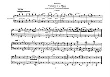 Variations on Theme by the Count Ferdinand of Waldstein, WoO 67: para piano de quadro mãos by Ludwig van Beethoven