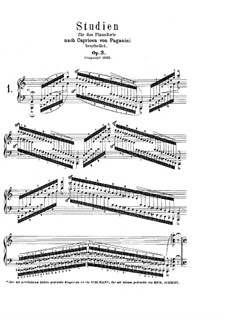 Etudes after Paganini's Caprices, Op.3: No.1-2 by Robert Schumann