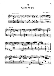 Henry VIII: Torch Dance, for piano by Edward German