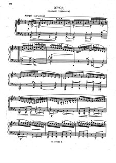 Etude in C Minor: Para Piano by Nikolai Medtner